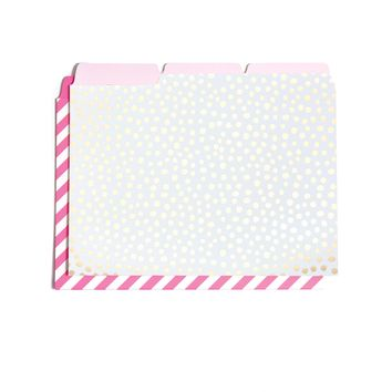 Got It Sorted File Folder Set - Petite Party Dots