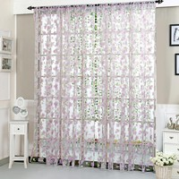 Polyester Tulle Curtain Finished Product Living Room Bedroom Door Window Curtain Home Decor