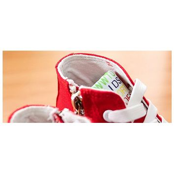 Classic Canvas Shoes for Boys & Girls Spring Children Vintage High Top Casual Shoes Kids Fashion Sneakers