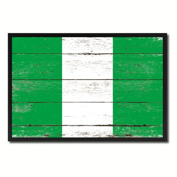 Nigeria Country National Flag Vintage Canvas Print with Picture Frame Home Decor Wall Art Collection Gift Ideas