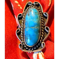 Navajo  Ring Vintage Silver Turquoise Ring Native American Jewelry