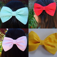 Tifanny Red Pink Yellow Hair Bow