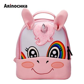 Unicorn Kindergarten Kid Backpacks Baby Boy Zoo Animal Bookbag Girls Cute Giraffe Schoolbag Backpack Children Cartoon Mochila