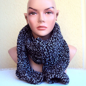 Unisex Knit Chunky Scarf Women Men Clothing Accessories Gift Ideas