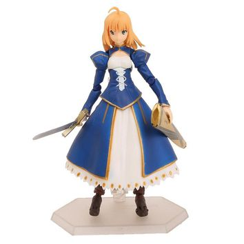 Fate/stay night Figma EX-025 Saber Dress Ver. PVC Action Figure Collectible Model Toy