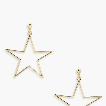 Florence Star Metal Ball Stud Earrings | Boohoo
