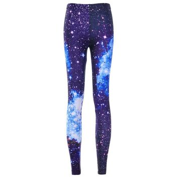 Galaxy Space Fashion Leggings - Ladies High Waist Fitness Leggings