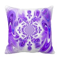 """Purple Prose"", accent pillow in purple"