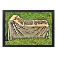 Cemetery Art, Reading in Bed, Gothic Dark Art, Virginia Fine Art Print, Victorian Art Print