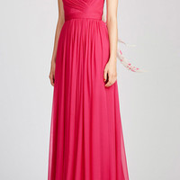 Draped Gown with Cross Front Bodice | Moda Operandi