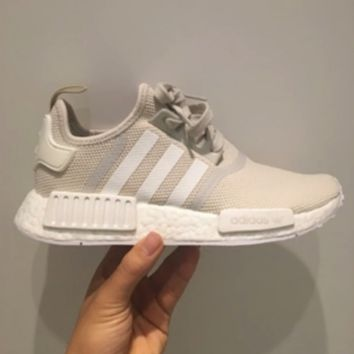 """Adidas"" NMD Trending Fashion Casual Sports Shoes Beige"