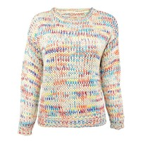 Rainbow Drops Multi Colored Chunky Knitted Jumper
