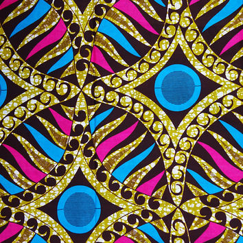 African fabric by the Yard/ Ankara fabric/ African Supplies/ African print fabric/ African material/ Wax print fabric/ Ankara by the yard