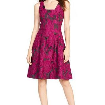 Women's Lauren Ralph Lauren Floral Jacquard Fit & Flare Dress,
