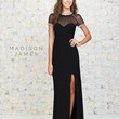 Madison James 15-132 Black Prom Dress Evening Gown