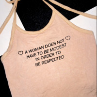 SWEET LORD O'MIGHTY! RESPECT ALL WOMEN HALTER IN NUDE