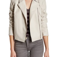 cupcakes and cashmere | Faux Leather Zip Long Sleeve Jacket | Nordstrom Rack