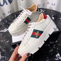 2020 top quality Gucci Women Popular Running Sport Casual Shoes Sneakers white