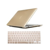 "AGPtek Gold Hard Case Cover for Macbook Pro 13"" 13.3"" Retina A1425 included Keyboard Skin?Screen Cover"