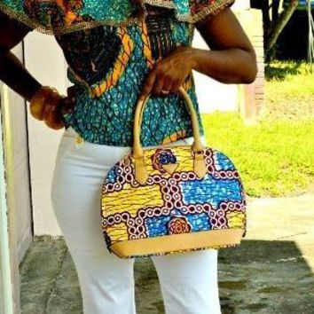 Cello Yellow African Print Tote Bag