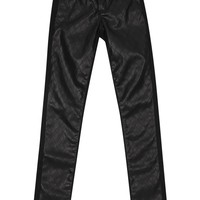 Tractr Quilted Pleather Front Skinny