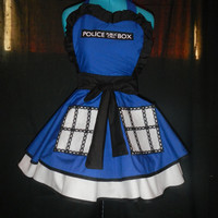 Doctor Who Tardis Inspired Cosplay Apron Pinafore