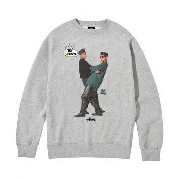 Stussy: Yo MTV Raps!: Gang Starr Crewneck Sweatshirt - Heather Grey