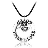 Movie Percy Jackson CAMP HALF Blood Flying Horse Pendant Necklaces Jewelry Gifts Rope Necklace Splicing Necklace Accessories