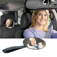 Car Back Seat Mirror Baby Facing Rear Ward View Headrest Mount Mirror Round Safety Infant Baby Kids Monitor Car Accessories