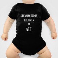 Doctor Who Stormageddon Dark Lord of All Onesuit by 2sweet4words Designs | Society6