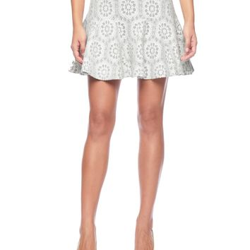 Heather Dove/Angel Lace Bonded Lace Skirt by Juicy Couture,