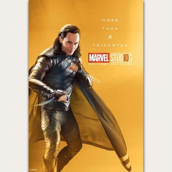 FX842 Avengers Infinity War 2018 Marvel  Movie Character 10 Years Comic Film Loki Poster Art Silk Canvas Home Wall Print Decor