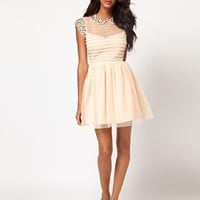 ASOS Skater Dress with Embellished Collar