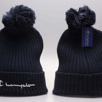 Perfect Champion Print Women Men Hip hop Beanies Winter Knit Hat Cap