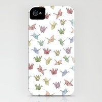 Origami Cranes iPhone Case by Bryony Crane | Society6