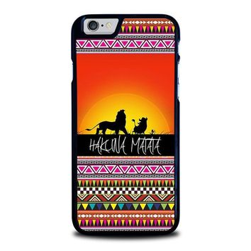 hakuna matata lion king sunset aztec iphone 6 6s case cover  number 1