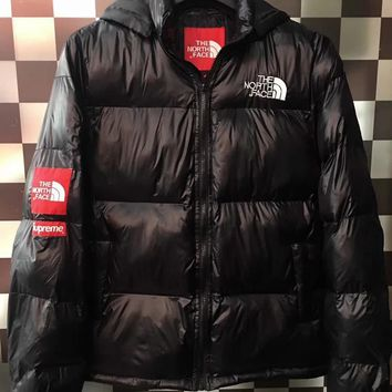 Supreme X The North Face Women Men Fashion Multicolor Hooded Down Jackets-1