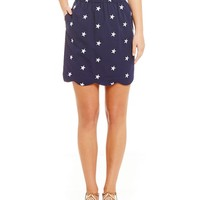 Lauren James Americana Star Seersucker Skirt | Dillards