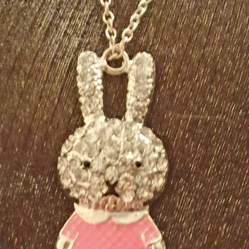 Miffy Crystal Rabbit Pendant and chain