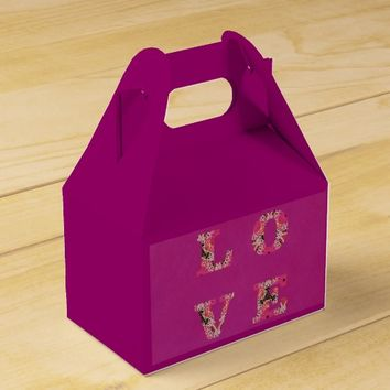 Love in Fuchsia and Texture Gable Gift Box by KCS
