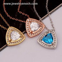 New Hot Sale Girl's Gifts Sapphire Gold Plated Jewelry for Valentine's Day