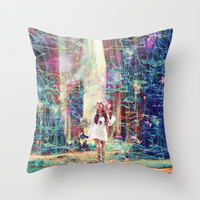 The Forest Throw Pillow by J.Lauren