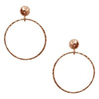 ALIZEA LARGE HOOP DROP EARRING IN ROSE GOLD