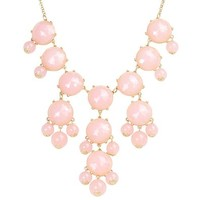 Designer Soft Pink Fashion Classic Bubble Necklace Statement Necklace Bib Necklace (Fn0508-Pink)