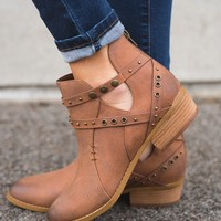 McCall Not Rated Studded Booties (Tan)