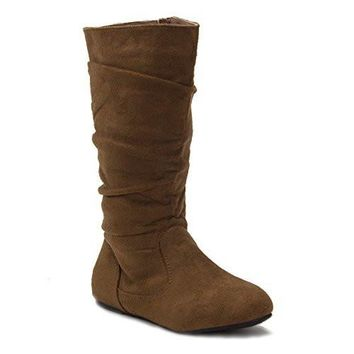Girls Bella-9 Slouchy Zipped Tall Winter Fashion Boots