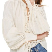 Topshop Star Jacquard Gypsy Blouse | Nordstrom