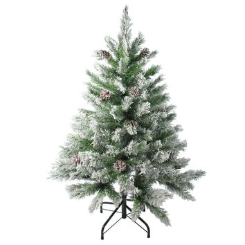 4' Flocked Angel Pine with Pine Cones Artificial Christmas Tree - Unlit