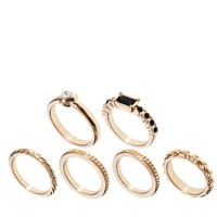 ASOS 6 Pack Mid Stack Rings