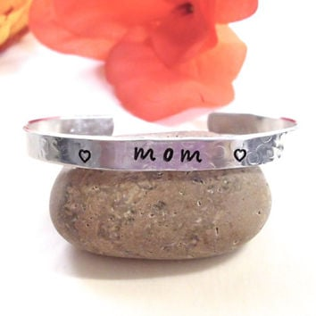 Personalized Jewelry, Hand Stamped Jewelry, Name Bracelet, Mom Bracelet, Personalized Cuff Bracelet